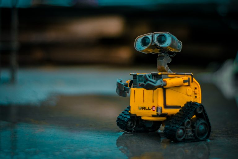 Walle - yellow robot from Pixar movie